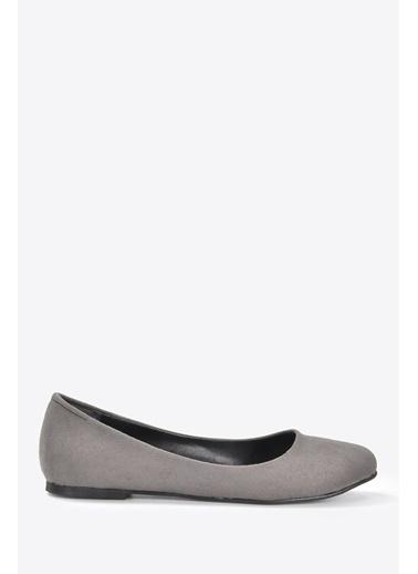 Vizon Ayakkabı Babet Gri